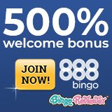 Huge 500% bonus at 888 Bingo right now!