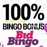 Grab a 100% bonus with free spins at Bid Bingo!