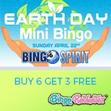 Join Bingo Spirit's Earth Day Mini Bingo