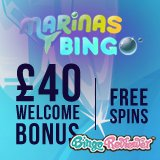 Marinas Bingo makes a splash with £40 bonus plus free spins!