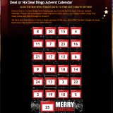 Claim Your Christmas Advent Calendar at Deal or No Deal Bingo