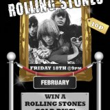 Win a Rolling Stones Gold Disk At Sing Bingo
