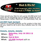 Grab Free Tickets for the Hot & Rich Nespresso Prize Draw at Moon Bingo