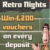 Join Retro Nights Room to win Gift Vouchers at Sparkling Bingo