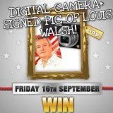 Win a Signed Louis Walsh Photo and Digital Camera in Tonights Sing Bingo TGI Friday Game