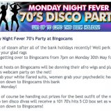 70'S Monday Night Fever at Bingo Cams