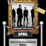 Win a U2 Gold Disk tonight at Sing Bingo