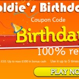 Celebrate Goldie's Birthday at Bingo Giving with a 100% Bonus