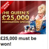 £25,000 Must Be Won In Jackpotjoy's Coronation Special Game