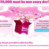 Mecca Moments and 10k Games return to Mecca Bingo