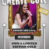 Win a Cheryl Cole Gold Disk at Sing Bingo